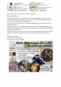 Organisatie BK Judo 2014 - 2015