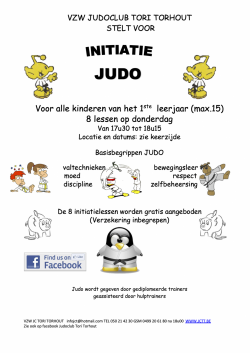 8 gratis initiatielessen judo in september en oktober